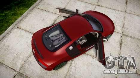 Audi R8 V10 Plus 2014 for GTA 4 right view