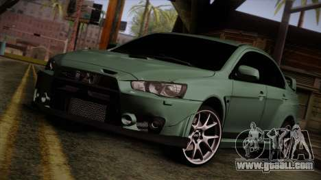 Mitsubishi Lancer Evolution FQ-400 for GTA San Andreas