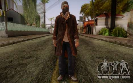 Aiden Pearce from Watch Dogs v5 for GTA San Andreas