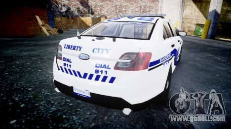 Ford Taurus 2014 Liberty City Police [ELS] for GTA 4 back left view