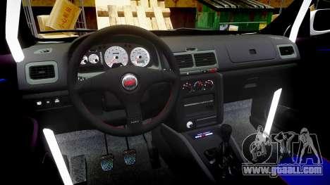 Subaru Impreza WRC 1998 v4.0 SA Competio for GTA 4 back view