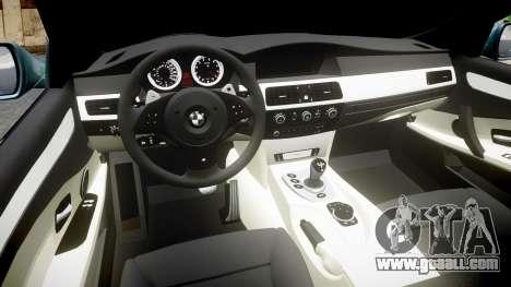 BMW M5 E60 v2.0 Stock rims for GTA 4 inner view