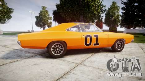 Dodge Charger RT 1969 General Lee for GTA 4 left view