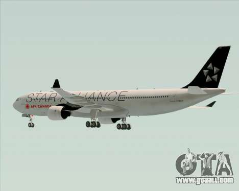 Airbus A330-300 Air Canada Star Alliance Livery for GTA San Andreas bottom view