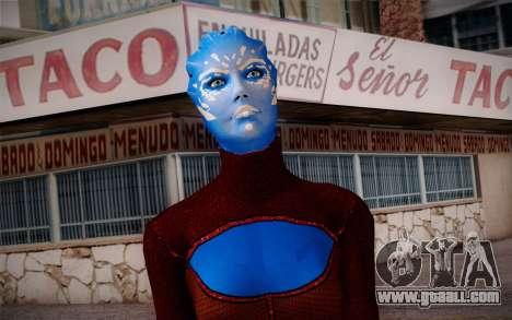 Asari Dancer from Mass Effect for GTA San Andreas third screenshot