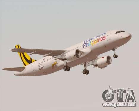 Airbus A320-200 Tigerair Philippines for GTA San Andreas interior