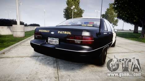 Chevrolet Caprice 1991 Highway Patrol [ELS] Slic for GTA 4 back left view