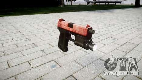 Gun HK USP 45 red for GTA 4