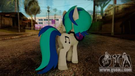 Vinyl Scratch from My Little Pony for GTA San Andreas second screenshot