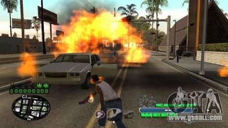 C-HUD Smoke Weed for GTA San Andreas fifth screenshot