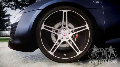 Audi R8 plus 2013 HRE rims for GTA 4 back view