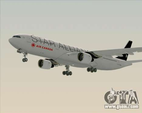 Airbus A330-300 Air Canada Star Alliance Livery for GTA San Andreas left view