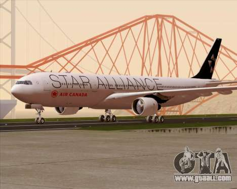 Airbus A330-300 Air Canada Star Alliance Livery for GTA San Andreas upper view