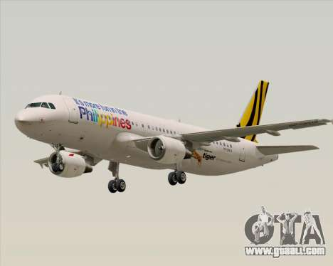 Airbus A320-200 Tigerair Philippines for GTA San Andreas back left view