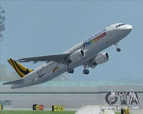 Airbus A320-200 Tigerair Philippines for GTA San Andreas