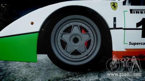 Ferrari F40 1987 [EPM] Jolly Club for GTA 4 back view