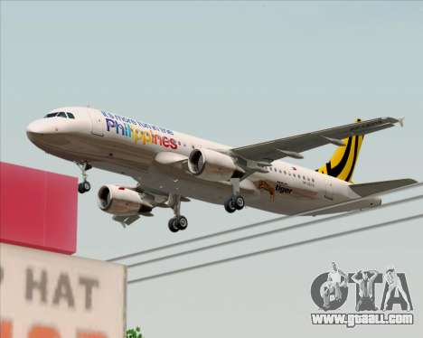 Airbus A320-200 Tigerair Philippines for GTA San Andreas bottom view