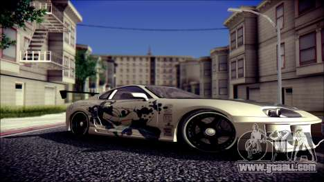 Toyota Supra Street Edition for GTA San Andreas right view