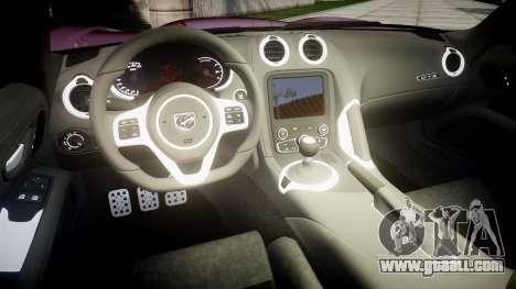 Dodge Viper SRT GTS 2013 for GTA 4 inner view