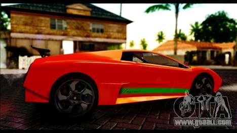 GTA 5 Pegassi Infernus [HQLM] for GTA San Andreas back left view