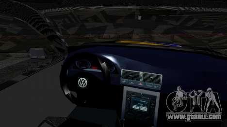 Volkswagen Golf MK4 for GTA San Andreas back left view