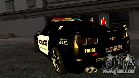 Chevrolet Camaro Police for GTA San Andreas left view