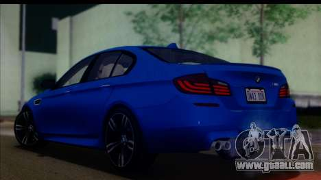 BMW M5 F10 2012 for GTA San Andreas left view