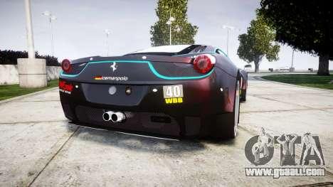 Ferrari 458 GT2 for GTA 4 back left view
