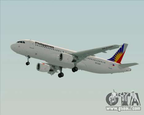 Airbus A320-200 Philippines Airlines for GTA San Andreas inner view