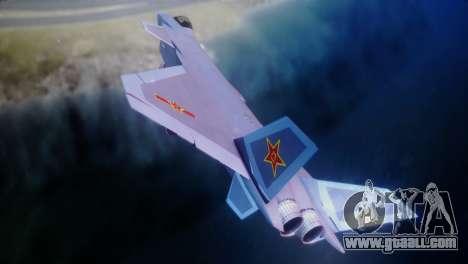 Chenyang J-20 Air Force BF4 for GTA San Andreas back left view