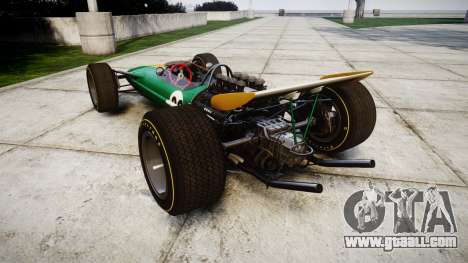 Lotus Type 49 1967 [RIV] PJ25-26 for GTA 4 back left view