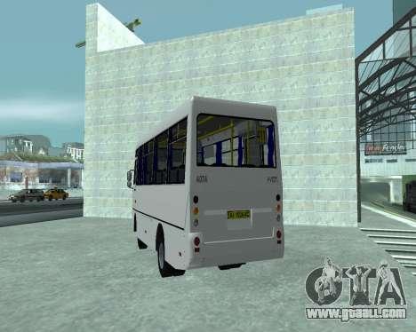 I-Van A07A for GTA San Andreas back left view