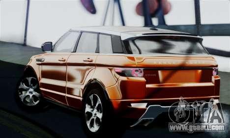 Range Rover Evoque 2014 for GTA San Andreas left view