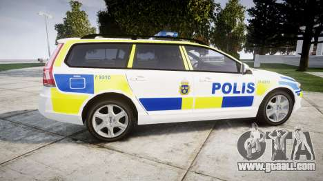 Volvo V70 2014 Swedish Police [ELS] Marked for GTA 4 left view