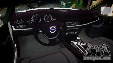 Volvo V70 2014 Swedish Police [ELS] Unmarked for GTA 4 back view