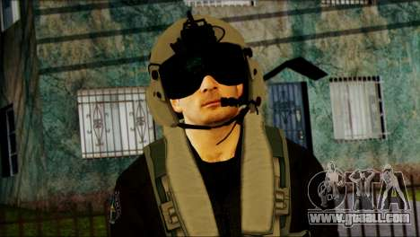 Russian Helicopter Pilot from Battlefield 4 for GTA San Andreas third screenshot