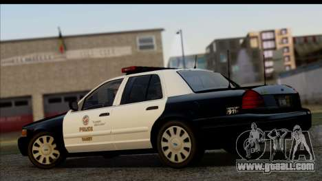 LAPD Ford Crown Victoria Whelen Lightbar for GTA San Andreas left view