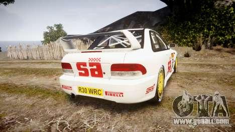 Subaru Impreza WRC 1998 v4.0 SA Competio for GTA 4 back left view