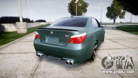 BMW M5 E60 v2.0 Stock rims for GTA 4 back left view