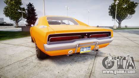 Dodge Charger RT 1969 General Lee for GTA 4 back left view