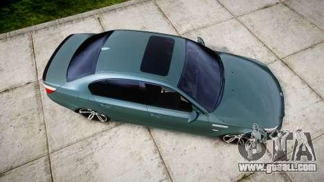 BMW M5 E60 v2.0 Stock rims for GTA 4 right view