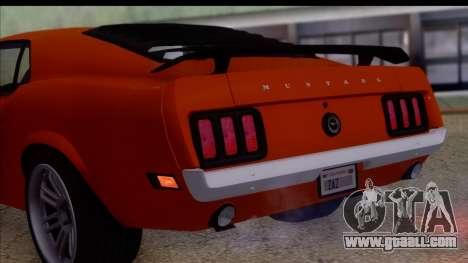 Ford Mustang Boss 429 1970 for GTA San Andreas right view