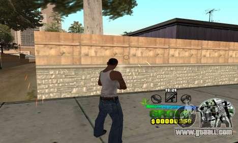 C-HUD Groove Street for GTA San Andreas second screenshot