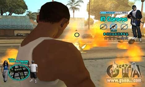 C-HUD Aztec El Corona for GTA San Andreas fifth screenshot