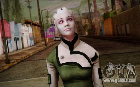 Liara T Soni Scientist Suit from Mass Effect for GTA San Andreas third screenshot