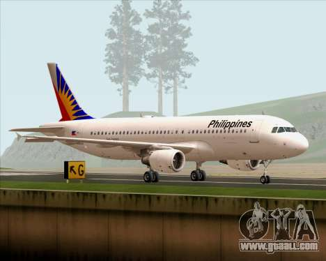 Airbus A320-200 Philippines Airlines for GTA San Andreas left view