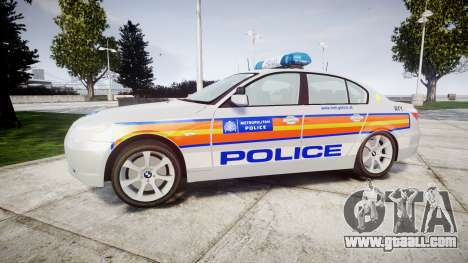 BMW 525d E60 2009 Police [ELS] for GTA 4 left view