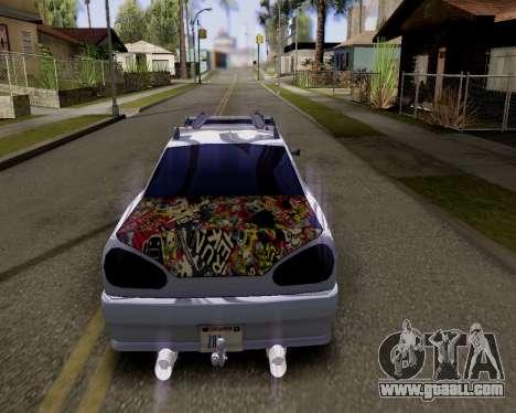 Elegy v2.0 for GTA San Andreas left view