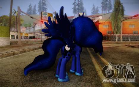 Princess Luna from My Little Pony for GTA San Andreas second screenshot