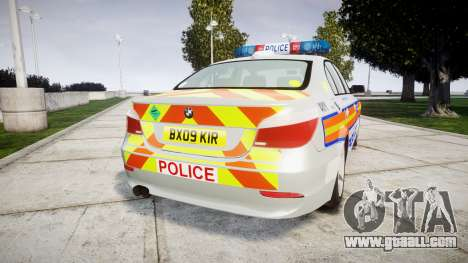 BMW 525d E60 2009 Police [ELS] for GTA 4 back left view